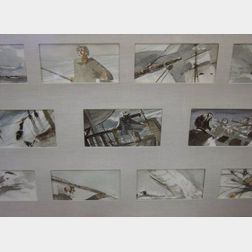 Lot of Fourteen Moby Dick Illustrations