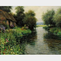 Louis Aston Knight (Franco/American, 1873-1948)      River View