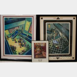 Michael Young (American, 20th/21st Century)      Lot of Three Art Deco-style Prints: Intermission, Flamingo Club