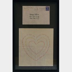Paul Cadmus (American, 1904-1999)      Untitled [Heart] / Correspondence and Envelope