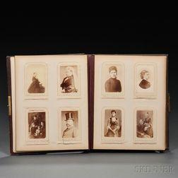 Carte-de-Visites and Cabinet Card Album of 19th Century European Royalty