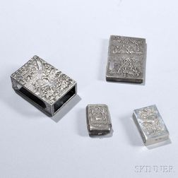 Four Pieces of Chinese Export Silver