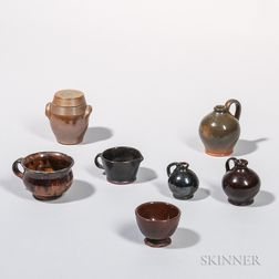 Seven Miniature Pottery Items