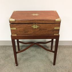 Export Brass-mounted Hardwood Desk on Stand