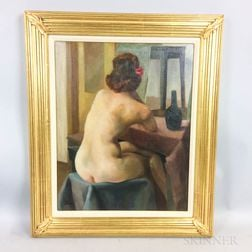 Attributed to Grif Teller (American, 1899-1993)      Seated Nude