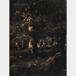 Camille Magnus (French, 1850-1877)      Barbizon Landscape