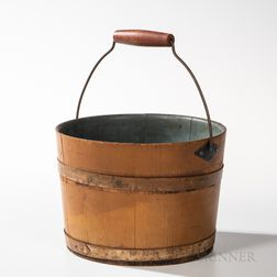 Shaker Yellow-painted Pine Sister's Pail