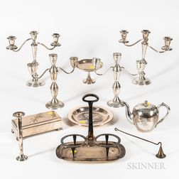 Group of Weighted Sterling Silver and Silver-plated Tableware