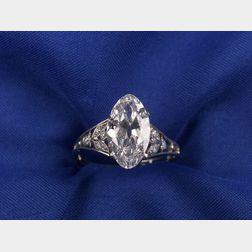 Art Deco Marquise Diamond Ring