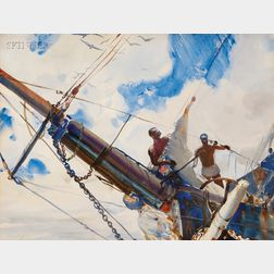 John Whorf (American, 1903-1959)      The Bowsprit