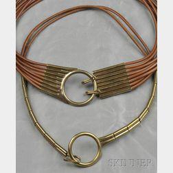 Two Leather Belts, Robert Lee Morris, c. 1980
