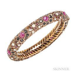 Gold Gem-set Bracelet