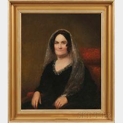 Oil Portrait of Anna Henshaw, Leicester, Massachusetts