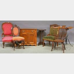 Seven Pieces of Assorted Victorian Furniture