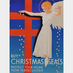 Kent, Rockwell (1882-1971) Christmas Seals Proof and Poster, 1939.