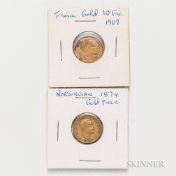 Two European Gold Coins