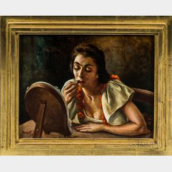 Margot Munger Peet (American, 1903-1995)      At the Dressing Table.