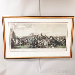 The Derby Day   Engraving