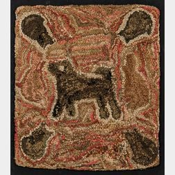 Dog and Cats Hooked Rug