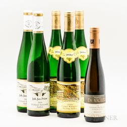 Mixed German Wines, 5 bottles 1 demi bottle