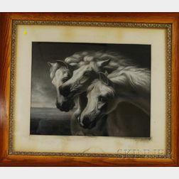 After John Frederick Herring Senior (British, 1795-1865)      Pharaoh's Horses