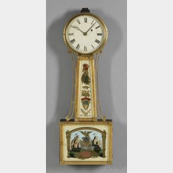"Patent Timepiece or ""Banjo"" Clock Attributed to Samuel Abbott"