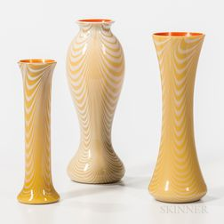 Three Imperial Art Glass Vases