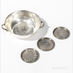 Four Pieces of Georg Jensen Sterling Silver Tableware