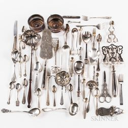 Group of Silver-plated and Sterling Silver Tableware
