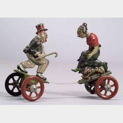 "Nifty ""Maggie and Jiggs"" Clockwork Platform Toy"