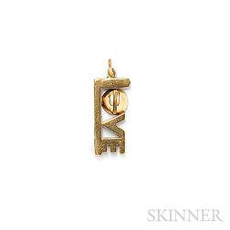 """18kt Gold """"Love"""" Pendant, Aldo Cipullo, Cartier"""