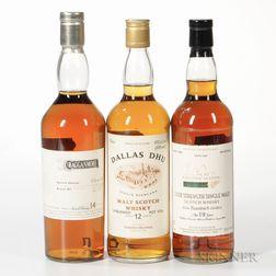 Mixed Scotch, 1 750ml bottle 2 70cl bottles