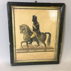 Framed Engraved Silhouette Portrait of George III