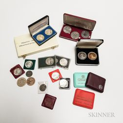 Twenty-three Mostly Sterling Silver Coins and Medallions
