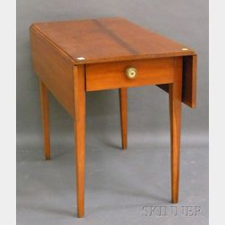 Federal Cherry Drop-leaf Pembroke Table with End Drawer