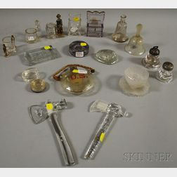 Group of Mostly Colorless Pressed Glass Figural Items