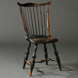 Paint-decorated Fan-back Windsor Side Chair