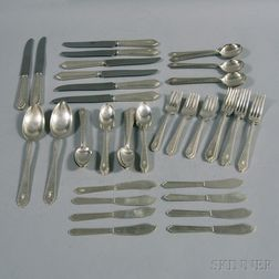 """Lunt """"William and Mary"""" Sterling Silver Flatware Service for Eight"""
