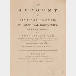 Maclaurin, Colin (1698-1746) An Account of Sir Isaac Newton's Philosophical Discoveries