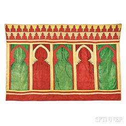 Moroccan Pieced and Applique Saph Wall Hanging