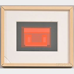 Framed Josef Albers (German, 1888-1967) Screenprint of a Single Ten Variants