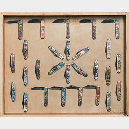 Collection of Twenty-seven Folding Penknives