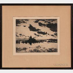 Frank Weston Benson (American, 1862-1951)      Gunner's Blind