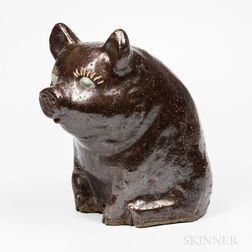 Sewer Tile Pottery Pig Bank
