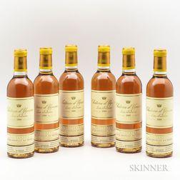 Chateau dYquem 1999, 6 demi bottles