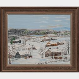 Forrest King Moses (New York, 1893-1974)      Winter is Here