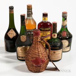 Mixed Spirits, 1 liter bottle 3 750 ml bottles 1 4/5 quart bottle 1 23/32 quart bottle 1 bottle