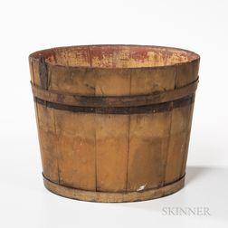 Shaker Yellow-painted Sap Bucket