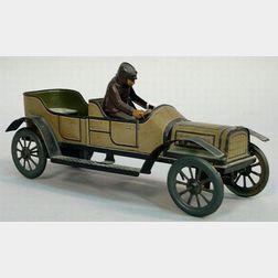 Tinplate Clockwork Open Touring Car