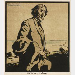 Sir William Nicholson (British, 1872-1949)      Lot of Three Portraits:  Rudyard Kipling, Sir Henry Irving